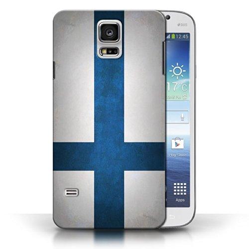 Coque en plastique pour Samsung Galaxy S5/SV Collection Drapeau - Pays de Galles/gallois Finlande/finlandais