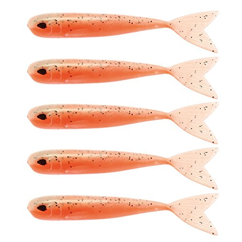 WestinMega Teez 5' (127mm) No Action V Tail Shad Confused Tomato