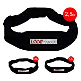 LOOPMAXX Workout Loop - Gewichtsgürtel Hometrainer Fitness Damen und Herren 2,5 Kg inkl. E-Book,...