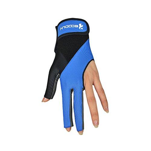 Zerama BOODUN atmungsaktive Soft Anti-Rutsch-Sport Cue Billiard Pool-Ball-Shooters 3 Fingers Einzel Lycra Handschuhe -
