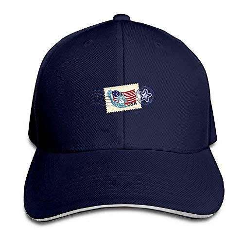 Preisvergleich Produktbild Statue of Liberty Stamp Cap Unisex Low Profile Cotton Hat Baseball Caps Natural