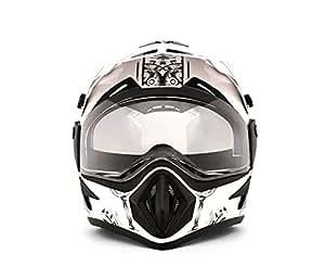 Vega Off Road Ranger Motocross Graphic Helmet (White and Green, S)