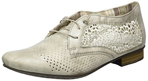 Rieker 51928, Scarpe Stringate Donna Grigio (Grey/offwhite / 40)