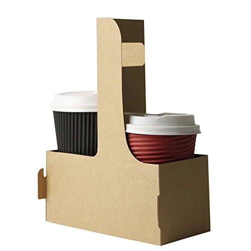 Tragbar Kaffee Becherhalter Takeaway Verpackung Papier Halter 20Stück