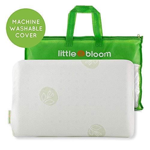 Kinder Kopfkissen von Littlebloom - Hypoallergenes zertifiziertes ungiftiges Kleinkind-Kissen mit Reisetasche für Kinder ab 18 Monate zur Reduzierung des Schädeldrucks Kinderkissen