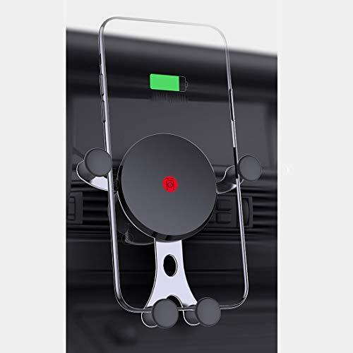 RUNNG Caricabatteria da Auto Wireless di Ricarica Rapida Intelligente, Supporto per Cellulare con sensore di gravità per Vent, Rotazione Multi-Angolo, Compatibile con Tutti i dispositivi Q