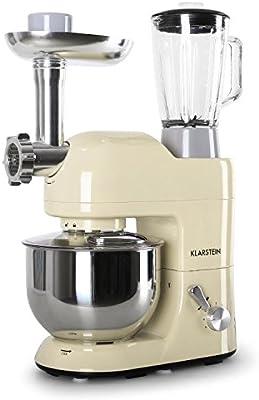 Klarstein Lucia Robot de cocina multifunción batidora, amasadora, picadora, licuadora