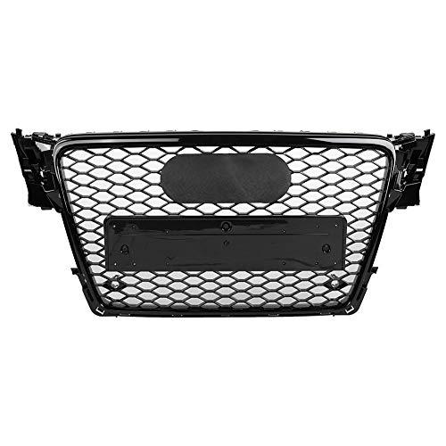 Auto Frontstoßstange Grill Frontstoßstange Abdeckung Für RS4 Style Front Sport Hex Mesh Wabenhaube Grill Schwarz für A4 / S4 B8 09-12