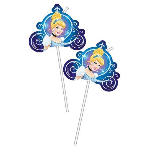 6 Halme Disney Cinderella Trinkhalme (Ballons Cinderella)