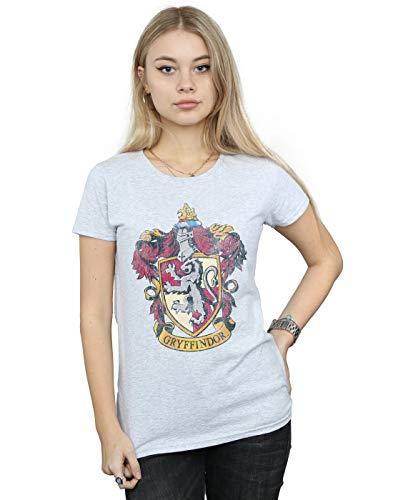 HARRY POTTER Damen Gryffindor Distressed Crest T-Shirt Large Sport Grey