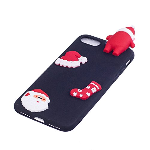 Cover iPhone 7 Spiritsun Case iPhone 8 Custodia Silicone Moda Ultraslim Soft TPU Case 3D Diy Handy Kawaii Christmas Cover Souple Flessibile Phone Case Per iPhone 7/8 (4.7 Pollici) - Cappello di Natale Cappello di Natale 2