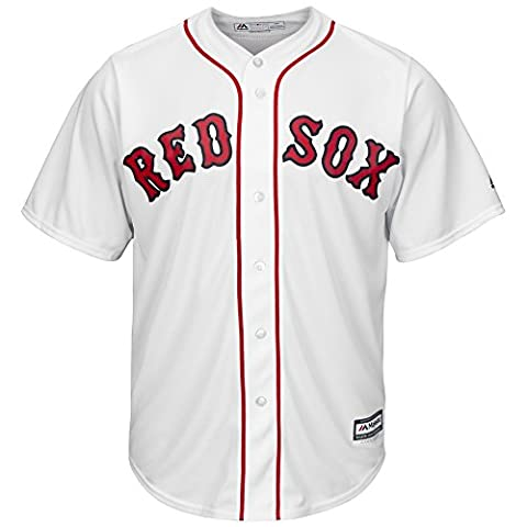Majestic MLB Boston Red Sox Home Maillot de baseball design Cool Base, Weiß
