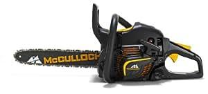 McCulloch 00096-67.669.36 CS 390+ Tronçonneuse à essence avec pochette en nylon, chaîne et gants