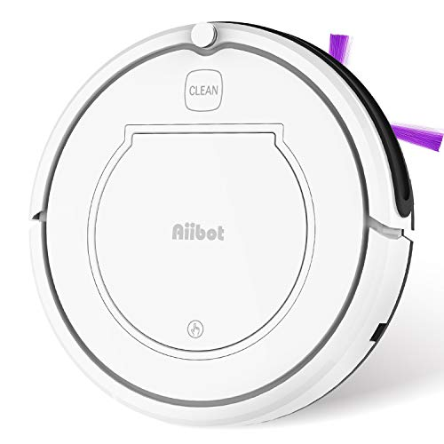 Aiibot Robot Aspirador Navegación Inteligente, Robot de Limpieza Fuerte Succión con Control Remoto, Sensor de Caída (T350 Blanco)