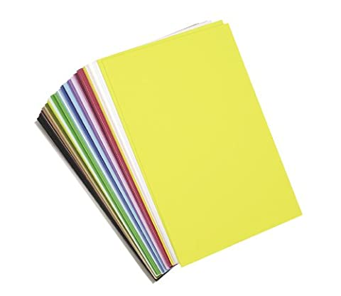 Darice Foam Sticky Back Sheets Value Pack 6-inch x 9-inch 40/Pkg-Assorted Colors
