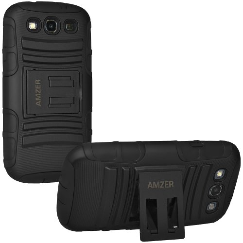 Amzer 96683 Hybrid Kickstand Case for Samsung Galaxy S3 Neo and S III GT-I9300 (Black)  available at amazon for Rs.524
