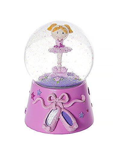 Globo di neve palla di neve musicale con ballerina rosa per bambini - con musica de il lago dei cigni