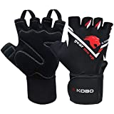 Kobo WTG-31-MEDIUM Weight Lifting Gym Gloves Hand Protector for Fitness Training