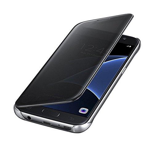Johra Mirror Black Flip Cover Case for Samsung Galaxy J7 Max - Samsung J7 Max Flip Cover