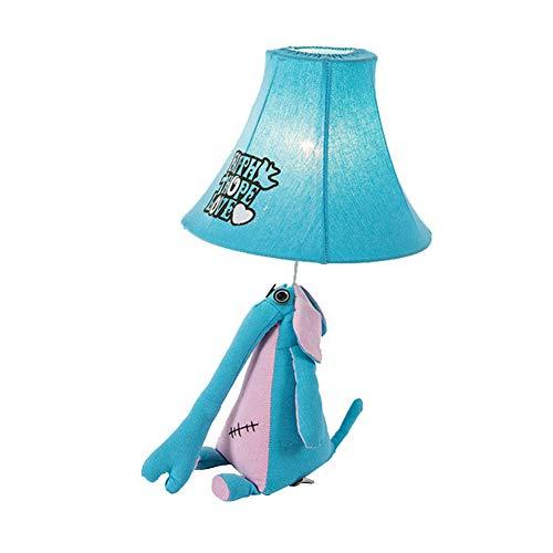 Tischlampe für Kinder, Studie Schreibtischlampe lesen Haushalt Schlafzimmer Nachttischlampe Wohnzimmer Kindergarten Cafe Dekoration Stoff,Blue