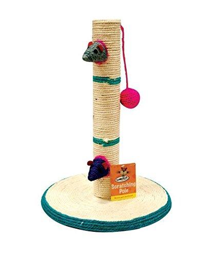 Cat Kitten Scratching Pole Post Pet Toy Sisal Tree Scratcher Play Activity Kitty.