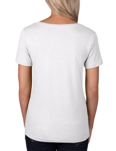 Anvil 391 - T-shirt - Uni - Col Ras Du Cou - Manches Courtes - Femme Blanc (Wht-White))