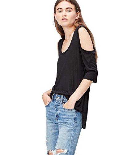 find. 70187 camisetas mujer fiesta,, Negro (Black), 38 (Talla del Fabricante:...