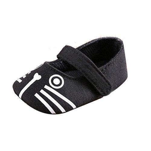 Ouneed® Sapatos Rastejando, Bebê Criança Suaves Sola De Sapato De Couro Menino Infantil Menina Sapatos Pretos