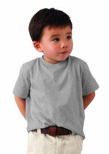 Anvil - Maglietta regular fit, colletto tondo, manica corta, bambino, Grigio (Grau (HGY-Heather Grey )), 104/110 cm