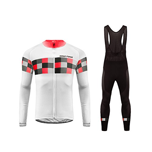 Uglyfrog Radfahren Jersey + Lange Hose mit Gel PAD Langarm Autumn with Fleece Bike Set (Barcelona-lange Jersey 2015)