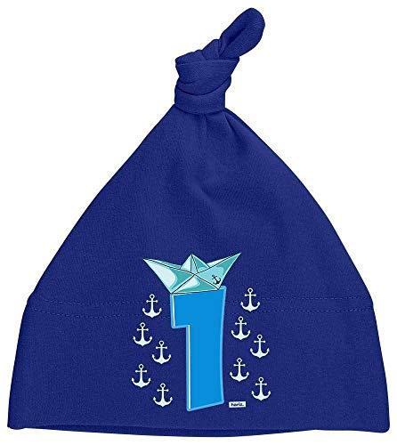 HARIZ Baby Mütze Knoten Pirat Schiff Hut 1 Geburtstag Kinder Baby Plus Geschenkkarte Matrosen Dunkel Blau