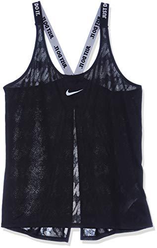 Nike Damen Dri-FIT Elastika Trainings-Tanktop, Mehrfarbig (Black/Black/Cool Grey), L