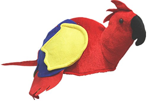 Petitebelle Red Parrot Soft Hat Unisex Costume Free Size ()