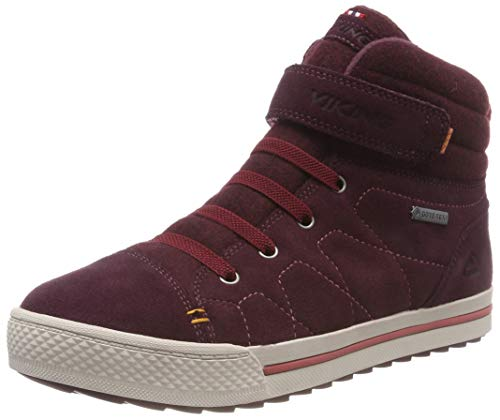Viking Unisex-Kinder Eagle IV GTX Hohe Sneaker, Wine/Dark Red, 34 EU -