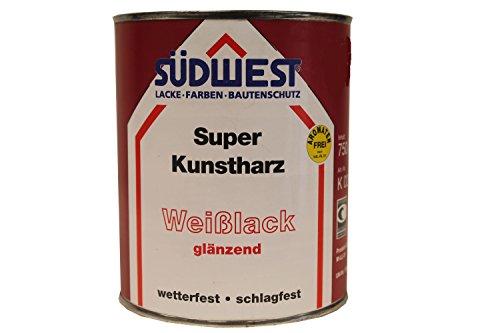 Kunstharz-Weißlack  <strong>Überstreichbar nach ca.</strong>   24 h