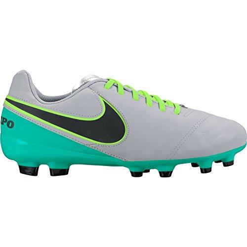 Nike JR Tiempo Legend VI FG, Scarpe da Calcio Bambino, Gris (Wolf Grey / Black-Clear Jade), 32 EU