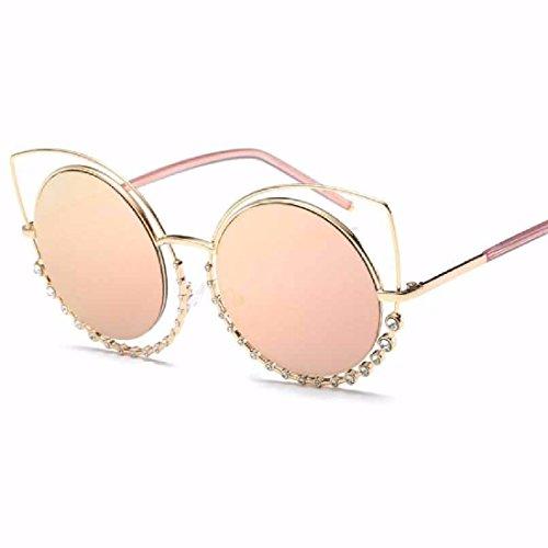 QPSSP Sonnenbrille, Diamond, Doppel - Kreis, Cat Eye, Sonnenbrille, Eine Sonnenbrille,Ein