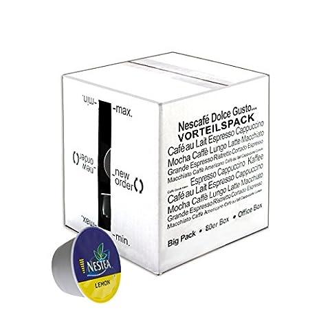 80 x Nescafé Dolce Gusto Nestea Lemon, Thé Citron, Thé Glacé, Paquet Grand Format, 80 Capsules