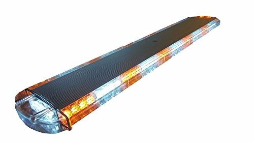 42 INCH 80W LED LIGHT BAR EMERGENCY STROBE LIGHTS FLASH BEACON WARNING LIGHT AMBER & WHITE COLOR 15 FLASH PATTERNS