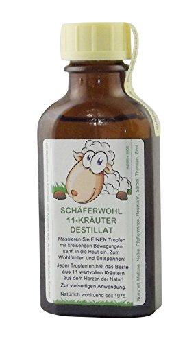 SCHÄFERWOHL 11-Kräuter-Destillat 50ml Flasche, ätherisches Wellness-Kräuteröl | Natur Entspannen Relax Wohlfühlen - enthält wertvolle, natürliche Destillate aus Früchten und Kräutern - PZN: 11564533 -