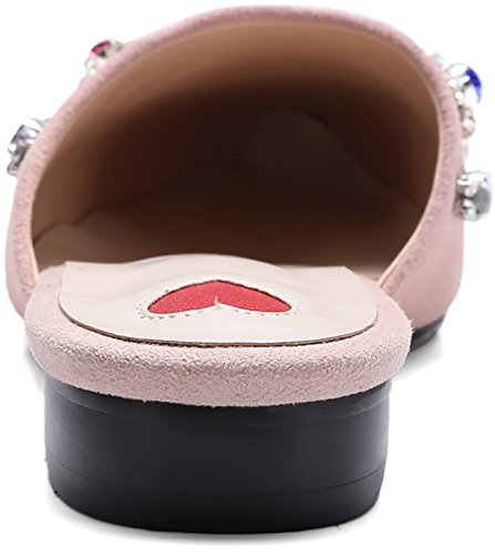 Su Zoccoli 1 Centimetri Muli Scarpe E Donna Calaier Scorrevole 5 Blocco Rosa Cainternet wf1HqU0