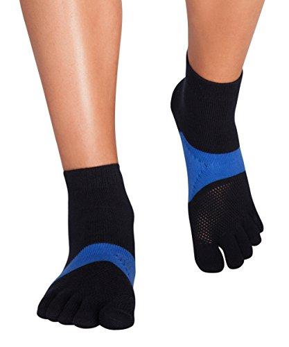 Knitido Marathon TS Zehensocken - Funktions-Sportsocken mit einzelnen Zehen für Laufen, Marathon, Running , Größe:39-42, Farbe:navy / blau (Mit Socken Running Zehen)