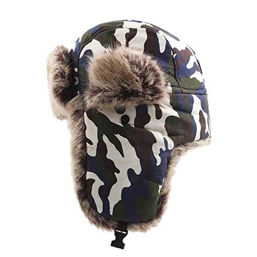 XCLWL Cappello Invernale Uomo Bomber Invernali Cappelli Uomo DonnaCaldi Antivento Cappelli da Sci da Neve Scaldacollo Berretto da Ciclismo All'Aperto, Mimetico