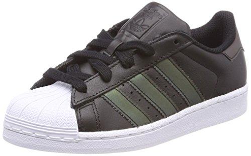 adidas Unisex-Kinder Superstar Sneaker, Schwarz (Core Black/Core Black/Footwear White), 35 EU (Schwarze Adidas Superstar)
