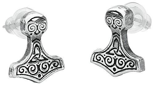 Alchemy Gothic (Metal-Wear) Thor Hammer Coppia di Orecchini