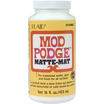 Mod Podge Matte Waterbase Sealer, Glue and Finish - 16 oz