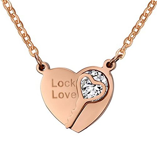 SaySure - Heart key necklaces & pendants with AAA+ CZ stone pendants