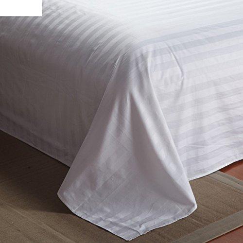 cotton hotel in lenzuola di raso/Lenzuola di cotone singolo doppio bianco-A 280x270cm(110x106inch)