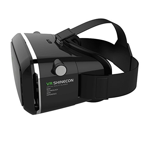 Hibote 2015 NEW UPDATED! Black 3D-Brille Virtual Reality Glasses Head-mounted Google Cardboard Version Headset 3D VR Glasses For Samsung iPhone 3.5~6
