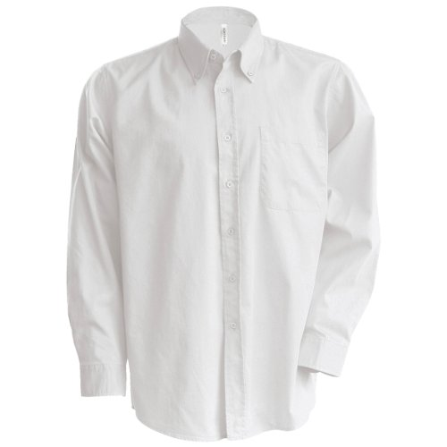 Kariban - camicia manica lunga classica - uomo (5xl) (bianco)